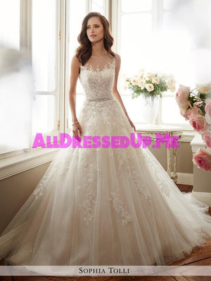 Sophia Tolli - Monte - Y11719 - All Dressed Up, Bridal Gown - Mon Cheri - - Wedding Gowns Dresses Chattanooga Hixson Shops Boutiques Tennessee TN Georgia GA MSRP Lowest Prices Sale Discount