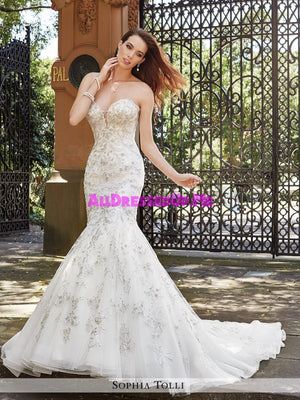 Sophia Tolli - Palermo - Y21659 - All Dressed Up, Bridal Gown - Mon Cheri - - Wedding Gowns Dresses Chattanooga Hixson Shops Boutiques Tennessee TN Georgia GA MSRP Lowest Prices Sale Discount