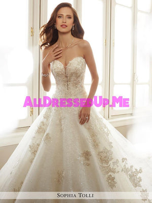 Sophia Tolli - Rainier - Y11731 - All Dressed Up, Bridal Gown - Mon Cheri - - Wedding Gowns Dresses Chattanooga Hixson Shops Boutiques Tennessee TN Georgia GA MSRP Lowest Prices Sale Discount