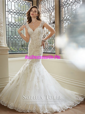 Sophia Tolli - Rana - Y11646 - All Dressed Up, Bridal Gown - Mon Cheri - - Wedding Gowns Dresses Chattanooga Hixson Shops Boutiques Tennessee TN Georgia GA MSRP Lowest Prices Sale Discount