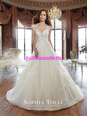 Sophia Tolli - Sam - Y21509 - All Dressed Up, Bridal Gown - Mon Cheri - - Wedding Gowns Dresses Chattanooga Hixson Shops Boutiques Tennessee TN Georgia GA MSRP Lowest Prices Sale Discount