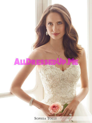 Sophia Tolli - Tropez - Y11716 - All Dressed Up, Bridal Gown - Mon Cheri - - Wedding Gowns Dresses Chattanooga Hixson Shops Boutiques Tennessee TN Georgia GA MSRP Lowest Prices Sale Discount