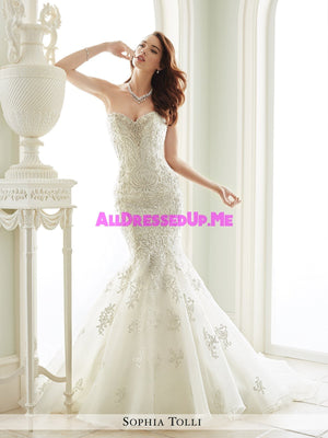 Sophia Tolli - Vittori - Y21664 - All Dressed Up, Bridal Gown - Mon Cheri - - Wedding Gowns Dresses Chattanooga Hixson Shops Boutiques Tennessee TN Georgia GA MSRP Lowest Prices Sale Discount