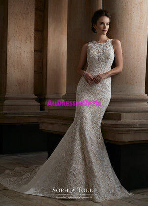 Sophia Tolli - Y21739LS - Polaris - All Dressed Up, Bridal Gown - Mon Cheri - - Wedding Gowns Dresses Chattanooga Hixson Shops Boutiques Tennessee TN Georgia GA MSRP Lowest Prices Sale Discount