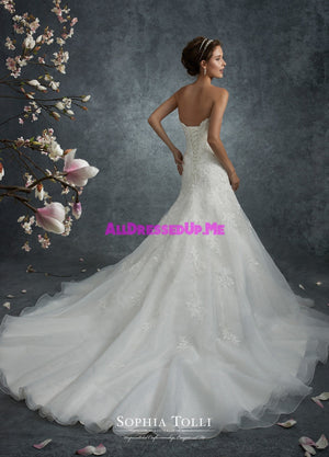 Sophia Tolli - Y21741LS - Perseus - All Dressed Up, Bridal Gown - Mon Cheri - - Wedding Gowns Dresses Chattanooga Hixson Shops Boutiques Tennessee TN Georgia GA MSRP Lowest Prices Sale Discount