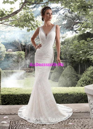 Sophia Tolli - Y21742LS - Aquarius - All Dressed Up, Bridal Gown - Mon Cheri - - Wedding Gowns Dresses Chattanooga Hixson Shops Boutiques Tennessee TN Georgia GA MSRP Lowest Prices Sale Discount