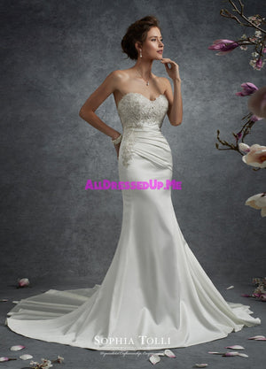 Sophia Tolli - Y21744LS - Nebula - All Dressed Up, Bridal Gown - Mon Cheri - - Wedding Gowns Dresses Chattanooga Hixson Shops Boutiques Tennessee TN Georgia GA MSRP Lowest Prices Sale Discount