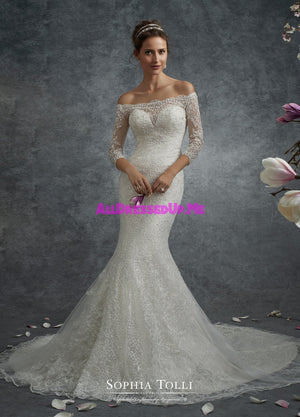Sophia Tolli - Y21746LS - Corona - All Dressed Up, Bridal Gown - Mon Cheri - - Wedding Gowns Dresses Chattanooga Hixson Shops Boutiques Tennessee TN Georgia GA MSRP Lowest Prices Sale Discount