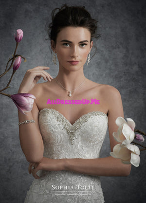 Sophia Tolli - Y21757LS - Cosmo - All Dressed Up, Bridal Gown - Mon Cheri - - Wedding Gowns Dresses Chattanooga Hixson Shops Boutiques Tennessee TN Georgia GA MSRP Lowest Prices Sale Discount