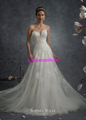 Sophia Tolli - Y21759LS - Libra - All Dressed Up, Bridal Gown - Mon Cheri - - Wedding Gowns Dresses Chattanooga Hixson Shops Boutiques Tennessee TN Georgia GA MSRP Lowest Prices Sale Discount