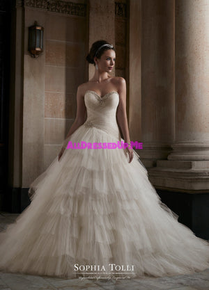 Sophia Tolli - Y21760 - Venus - All Dressed Up, Bridal Gown - Mon Cheri - - Wedding Gowns Dresses Chattanooga Hixson Shops Boutiques Tennessee TN Georgia GA MSRP Lowest Prices Sale Discount