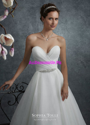 Sophia Tolli - Y21761BLS - Thiea - All Dressed Up, Bridal Gown - Mon Cheri - - Wedding Gowns Dresses Chattanooga Hixson Shops Boutiques Tennessee TN Georgia GA MSRP Lowest Prices Sale Discount