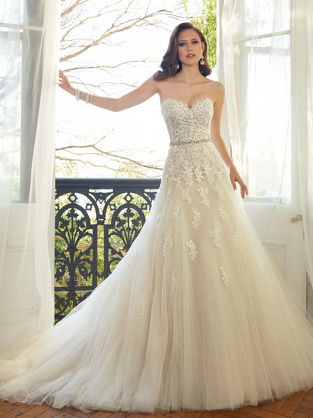 Sophia Tolli - Prinia - Y11552 - All Dressed Up, Bridal Gown-Bridal Gown-Mon Cheri-0-French Beige/Ivory-All Dressed Up - Bridal Prom Tuxedo