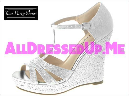 Your Party Shoes - Madison - All Dressed Up - 5 - Prom Wedding Bridal Platforms High Heels Wedges Children's Beaded Bling Jeweled Sparkle Special Occasions Event Chattanooga Hixson Shops Boutiques Tennessee TN Georgia GA MSRP Lowest Prices Sale Discount