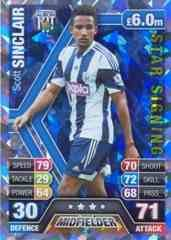 Match Attax 2013/2014 Scott Sinclair West Brom Star Signing 13/14