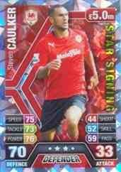 Match Attax 2013/2014 Steven Caulker Cardiff City Star Signing 13/14