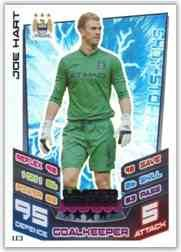 Match Attax Extra 2012/2013 Joe Hart Manchester City 12/13 Limited Edition LE3