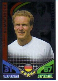 Match Attax ENGLAND Star Player GERMANY Rummenigge