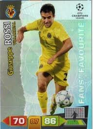 Champions League Adrenalyn 2011/2012 Giuseppe Rossi Fans Favourite 11/12