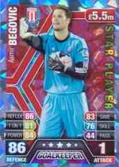 Match Attax 2013/2014 Asmir Begovic Stoke City Star Player 13/14