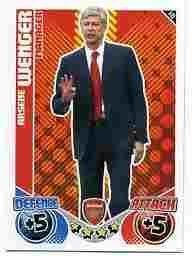 Arsene WEGNER Manager Individual Match Attax 2010/11 Trading Card
