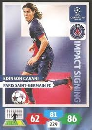 Champions League Adrenalyn XL 2013/2014 Edinson Cavani 13/14 Impact Signing