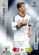 Champions League Adrenalyn XL 2012/2013 Sergio Ramos 12/13 Fans Favourite
