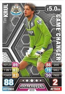 Match Attax Extra 2013/2014 Tim Krul Game Changer 13/14