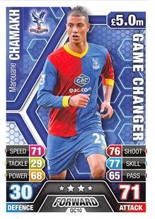 Match Attax Extra 2013/2014 Marouane Chamakh Game Changer 13/14