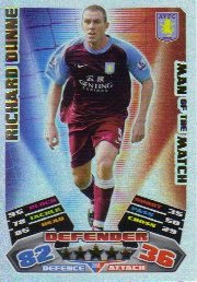 Match Attax 2011/12 Man of the Man ASTON VILLA 364 Richard Dunne