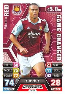 Match Attax Extra 2013/2014 Winston Reid Game Changer 13/14