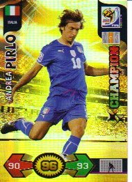 World Cup 2010 XL Adrenalyn CHAMPIONS Card Andrea Pirlo