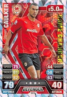 Match Attax Extra 2013/2014 Steven Caulker Game Changer 13/14