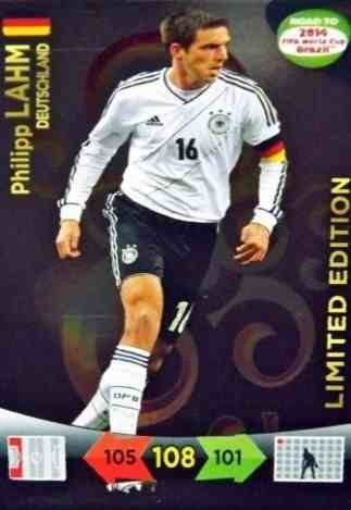 Adrenalyn XL Road To 2014 World Cup Brazil Philipp Lahm Limited Edition