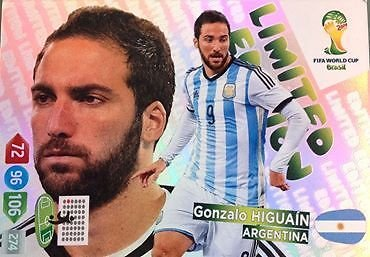 FIFA World Cup 2014 Brazil Adrenalyn XL Gonzalo Higuain Limited Edition