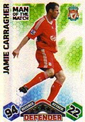 Match Attax 2009-2010 Man of the Match LIVERPOOL Carragher