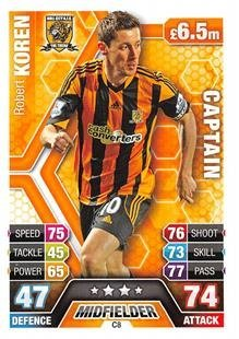 Match Attax Extra 2013/2014 Robert Koren Hull City Club Captain 13/14