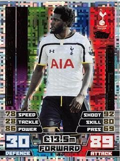 Match Attax 2014/2015 Emmanuel Adebayor Man Of The Match 14/15