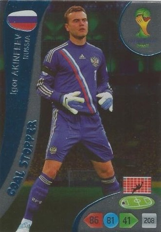 FIFA World Cup 2014 Brazil Adrenalyn XL Igor Akinfeev Goal Stopper