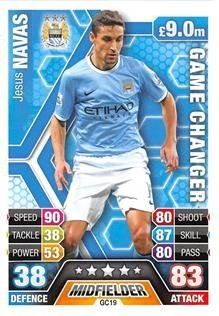 Match Attax Extra 2013/2014 Jesus Navas Game Changer 13/14