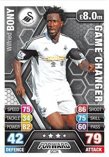 Match Attax Extra 2013/2014 Wilfried Bony Game Changer 13/14