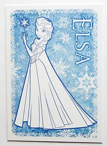 Disney Frozen Elsa Colour Me In Trading Card #135