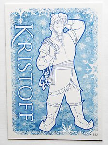 Disney Frozen Kristoff Colour Me In Trading Card #143