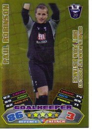 Match Attax 2011/12 Golden Moment GM32 Paul Robinson