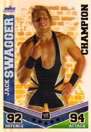 WWE Slam Attax Mayhem CHAMPION 001 Jack Swagger