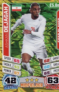 Match Attax England World Cup 2014 Ashkan Dejagah Star Player