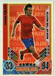 Match Attax Euro 2012 David Silva Man Of The Match