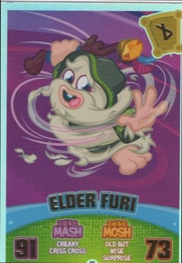 Moshi Monsters Series 3 Code Breakers No. 217 ELDER FURI - Rainbow Foil Individual Trading Card