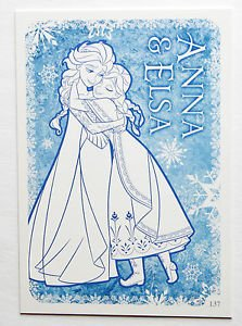 Disney Frozen Anna & Elsa Colour Me In Trading Card #137