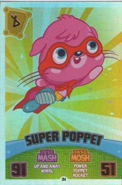 Moshi Monsters Series 3 Code Breakers No. 204 SUPER POPPET - Rainbow Foil Individual Trading Card